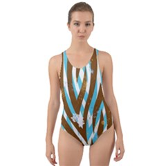 Floral Rivers Cut-out Back One Piece Swimsuit