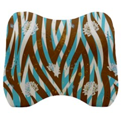 Floral Rivers Velour Head Support Cushion