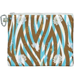Floral Rivers Canvas Cosmetic Bag (xxxl)