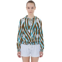Floral Rivers Women s Tie Up Sweat