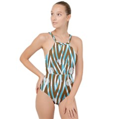 Floral Rivers High Neck One Piece Swimsuit