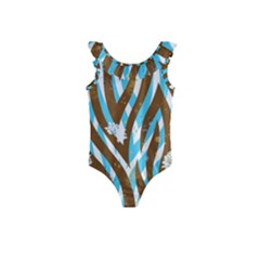 Floral Rivers Kids  Frill Swimsuit