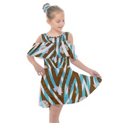 Floral Rivers Kids  Shoulder Cutout Chiffon Dress