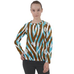 Floral Rivers Women s Long Sleeve Raglan Tee