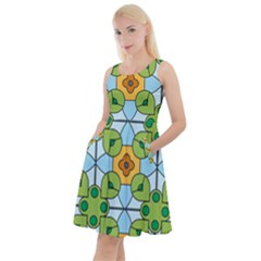 Df Artisano Vision Knee Length Skater Dress With Pockets