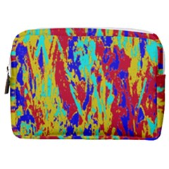 Multicolored Vibran Abstract Textre Print Make Up Pouch (medium)