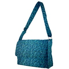 Turquoise Blue Ocean Full Print Messenger Bag (L)
