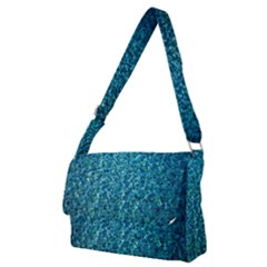 Turquoise Blue Ocean Full Print Messenger Bag (M)