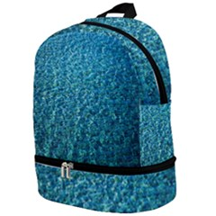 Turquoise Blue Ocean Zip Bottom Backpack