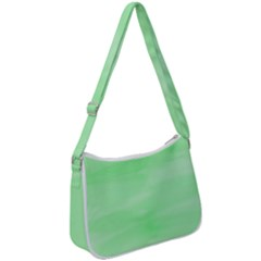 Mint Watercolor Zip Up Shoulder Bag by retrotoomoderndesigns