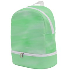Mint Watercolor Zip Bottom Backpack by retrotoomoderndesigns