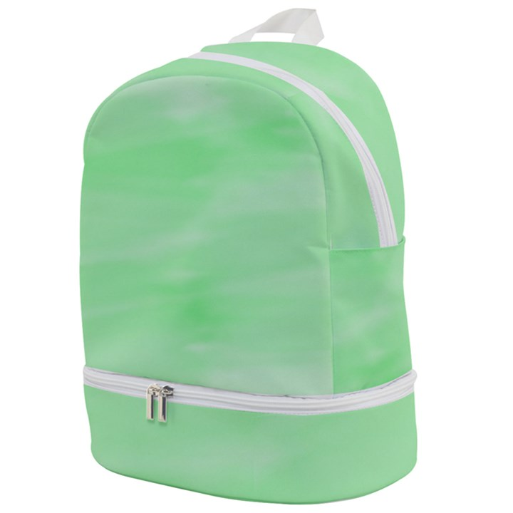 Mint Watercolor Zip Bottom Backpack