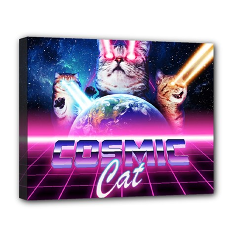Cosmic Cat Deluxe Canvas 20  X 16  (stretched)