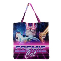 Cosmic Cat Grocery Tote Bag