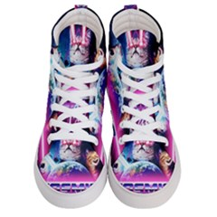 Cosmic Cat Men s Hi Top Skate Sneakers