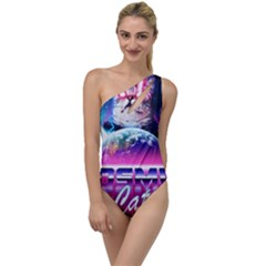 Cosmic Cat To One Side Swimsuit