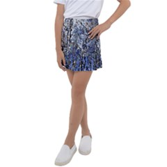 Winter Forest At Dusk Kids  Tennis Skirt