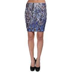 Winter Forest At Dusk Bodycon Skirt