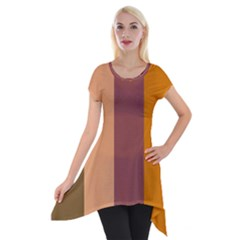 Stripey 15 Short Sleeve Side Drop Tunic by anthromahe