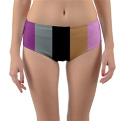 Stripey 16 Reversible Mid-waist Bikini Bottoms by anthromahe