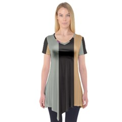 Stripey 16 Short Sleeve Tunic  by anthromahe
