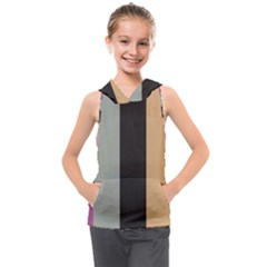 Stripey 16 Kids  Sleeveless Hoodie by anthromahe