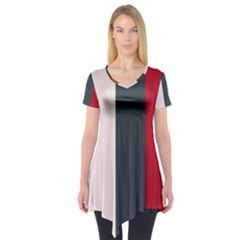 Stripey 18 Short Sleeve Tunic  by anthromahe