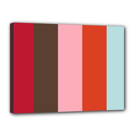Stripey 19 Canvas 16  X 12  (stretched) by anthromahe