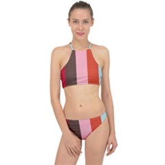 Stripey 19 Racer Front Bikini Set by anthromahe