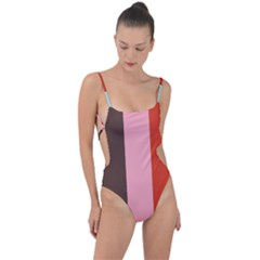 Stripey 19 Tie Strap One Piece Swimsuit by anthromahe