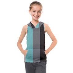 Stripey 20 Kids  Sleeveless Hoodie by anthromahe