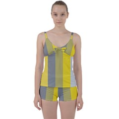 Stripey 21 Tie Front Two Piece Tankini by anthromahe