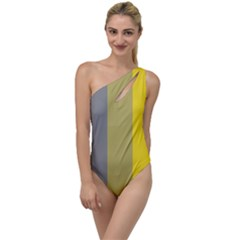 Stripey 21 To One Side Swimsuit by anthromahe