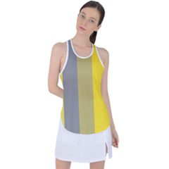 Stripey 21 Racer Back Mesh Tank Top by anthromahe