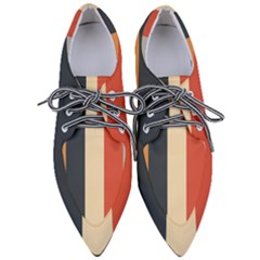 Stripey 22 Women s Pointed Oxford Shoes by anthromahe