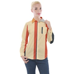 Stripey 22 Women s Long Sleeve Pocket Shirt