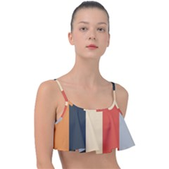 Stripey 22 Frill Bikini Top by anthromahe