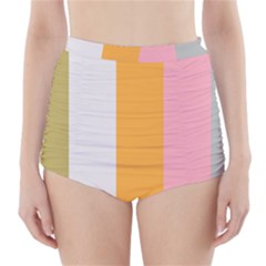 Stripey 23 High-waisted Bikini Bottoms by anthromahe