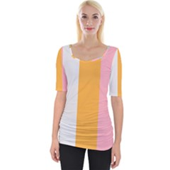 Stripey 23 Wide Neckline Tee