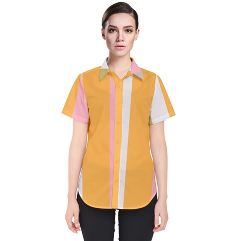 Stripey 23 Women s Short Sleeve Shirt by anthromahe
