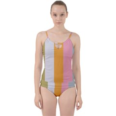 Stripey 23 Cut Out Top Tankini Set by anthromahe