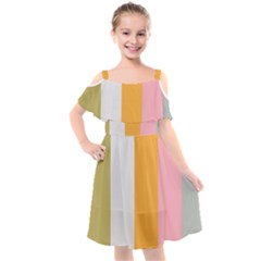 Stripey 23 Kids  Cut Out Shoulders Chiffon Dress by anthromahe