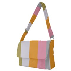 Stripey 23 Full Print Messenger Bag (m) by anthromahe