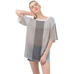 Stripey 24 Oversized Chiffon Top by anthromahe