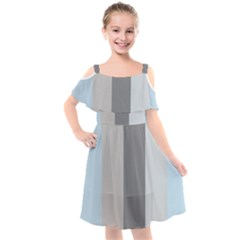 Stripey 24 Kids  Cut Out Shoulders Chiffon Dress by anthromahe