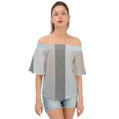 Stripey 24 Off Shoulder Short Sleeve Top by anthromahe