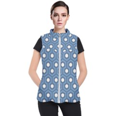 Blue Hexagon Women s Puffer Vest