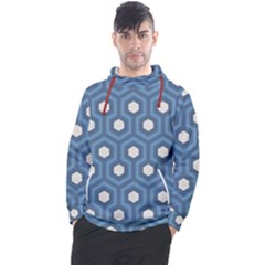 Blue Hexagon Men s Pullover Hoodie