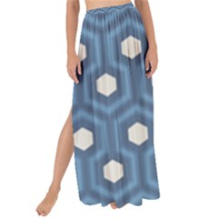Blue Hexagon Maxi Chiffon Tie Up Sarong