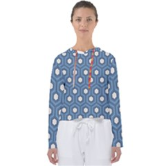 Blue Hexagon Women s Slouchy Sweat